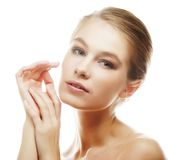 Young girl with clean skin on pretty face Stock Photography