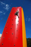Young girl climbing Royalty Free Stock Photography