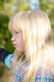 Young Girl Climbing Over Wooden Fence Royalty Free Stock Photography