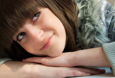 Young girl close-up portrait Stock Photos