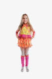 Young girl in colorful as winx Royalty Free Stock Photo