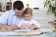 Young girl colouring Royalty Free Stock Image