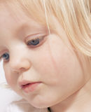 Young girl concentrating royalty free stock photos