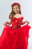 A young girl in costume Stock Photography