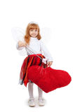 Young girl in costume of fairy Stock Photos