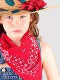 Young girl in country clothes Royalty Free Stock Photography