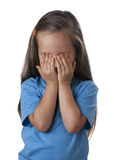 Young girl covering her eyes over Royalty Free Stock Photos