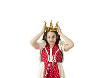 Young girl with a crown Royalty Free Stock Images
