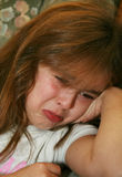 Young Girl Crying. Young girl starting to cry Stock Photography