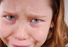 Young Girl Crying Royalty Free Stock Photography