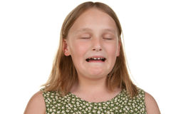 Young girl crying and unhappy Royalty Free Stock Photography