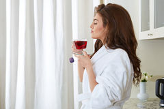Young girl with a cup Royalty Free Stock Images