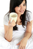 Young girl with a cup of tea Royalty Free Stock Photography