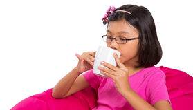 Young Girl With A Cup Of Tea III Stock Photos