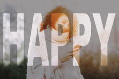 Young Girl With A Curly Hair Open Air Concept. Royalty Free Stock Photos