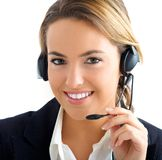 Young girl in customer service royalty free stock photography