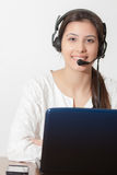 Young girl customer service Royalty Free Stock Photography