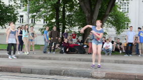 Young girl dance street Royalty Free Stock Image