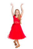 Young girl dances Royalty Free Stock Images
