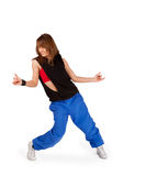 Young girl dancing hip-hop Royalty Free Stock Photos