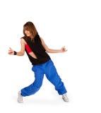 Young girl dancing hip-hop royalty free stock photos