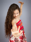 Young girl dancing Royalty Free Stock Images