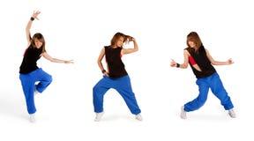 Young girl dancing isolated Stock Photo