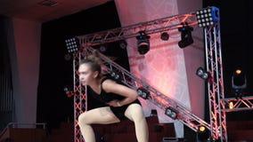 Young girl dancing modern jazz