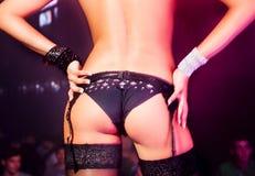 Young girl dancing in nightclub Royalty Free Stock Photos