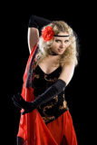 Young girl dancing spanish flamenco. Stock Image