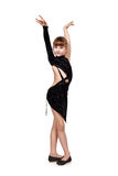 Young girl dancing tango Stock Images