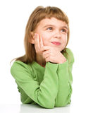 Young girl is daydreaming Stock Photos