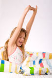 Young girl deep stretching Stock Photography