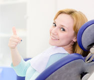 Young girl in the dental clinic Royalty Free Stock Image