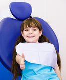 Young girl in the dental clinic Stock Photography