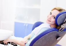 Young girl in the dental clinic Stock Photos