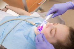 Young girl at dentist., dental treatment Stock Image