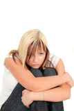 Young girl in depression Royalty Free Stock Photo