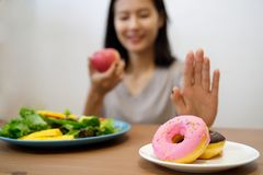 Young girl on dieting for good health concept. royalty free stock photo