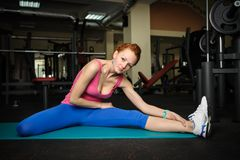 Young girl do stretching Royalty Free Stock Image