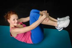 Young girl do stretching Stock Images
