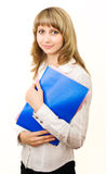 Young girl with documents Stock Photography