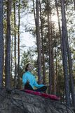 Woman, lifestyle, nature, exercise, fresh air, outdoor royalty free stock images