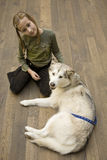 Young girl with dog Royalty Free Stock Photos