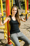 Young girl doing exercises Royalty Free Stock Photos