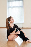 Young girl doing exercises in  dance class Stock Photography