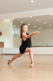 Young girl  doing exercises in a dance class Royalty Free Stock Photo