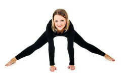 Young girl doing exercises Stock Photo
