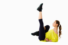 Young girl doing exercises Royalty Free Stock Photography