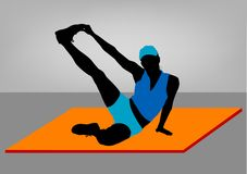 Young girl doing fitnes. Young, beautiful girl doing fitness vector illustration